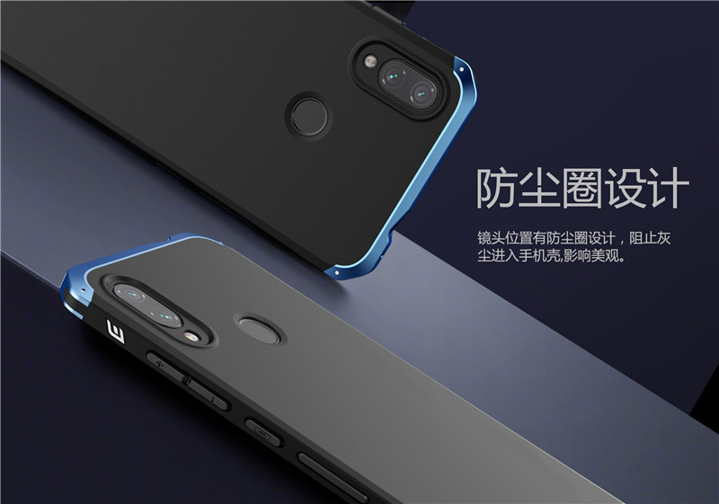 Armor Aluminum Frame metal Case For Xiaomi redmi note 7 Case Shockproof Hard PC back Cover For Xiaomi redmi Note 6 7