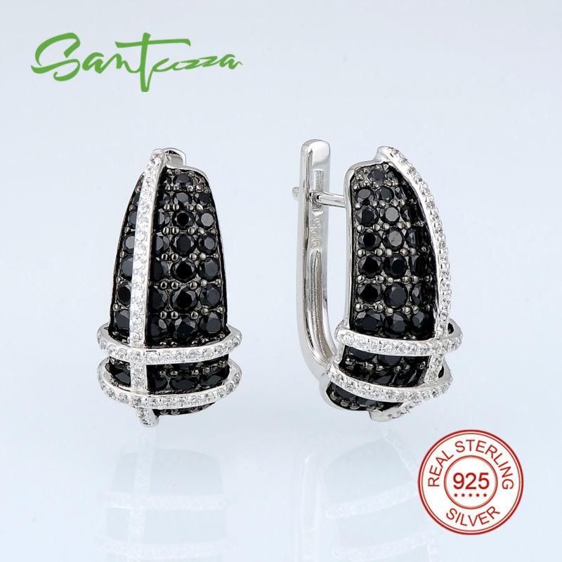 E303053BSNZSK925-SV1-Silver Earrings