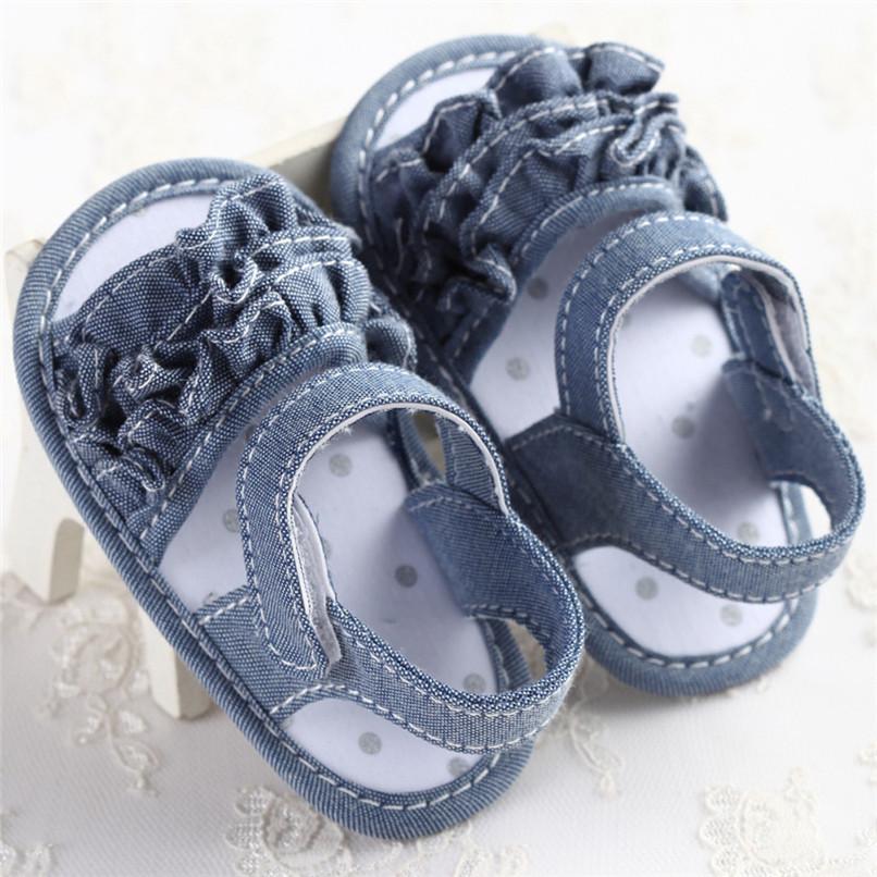 Summer Baby Girl Sandals Toddler Newborn Baby Girl Crib Flower Soft Sole Anti-slip Sneakers Canvas Sandals NDA84L25 (18)