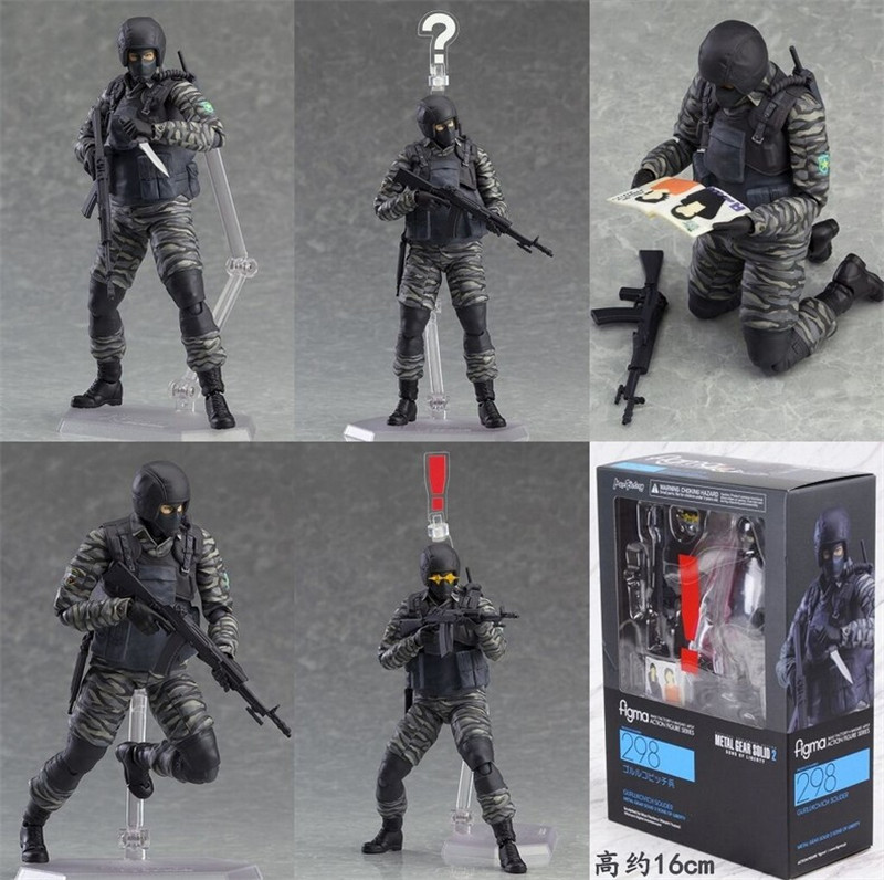 Figma 298 Metal Gear Solid 2 SONS OF LIBERTY SOLDATO Action Figure Nuovo in Scatola
