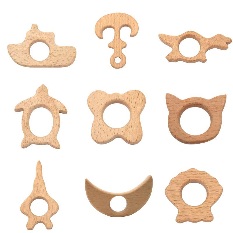 Animaux Forme B/éb/é Bricolage Accessoires H/être Animaux Artisanat Molaires Dents De B/éb/é Dentition Couleur Bois