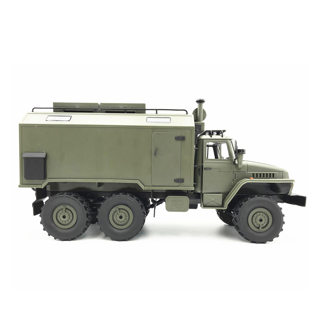 MagiDeal DIY Unassemble 2.4G 1/16 WPL B36 Military Truck 6WD Car Vehicle Model Kits Rubber Tires 180 Motor