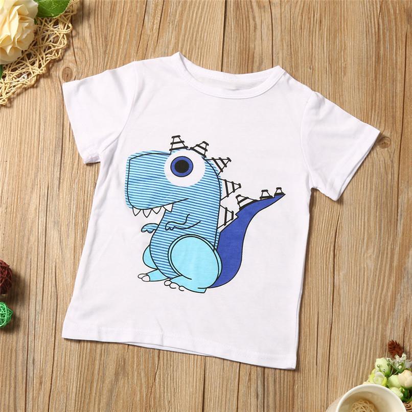 Summer Boys Clothes Toddler Kid Baby Boys Cartoon Printing T-shirt+Short Pants Clothes Outfits Set NDA84L18 (5)