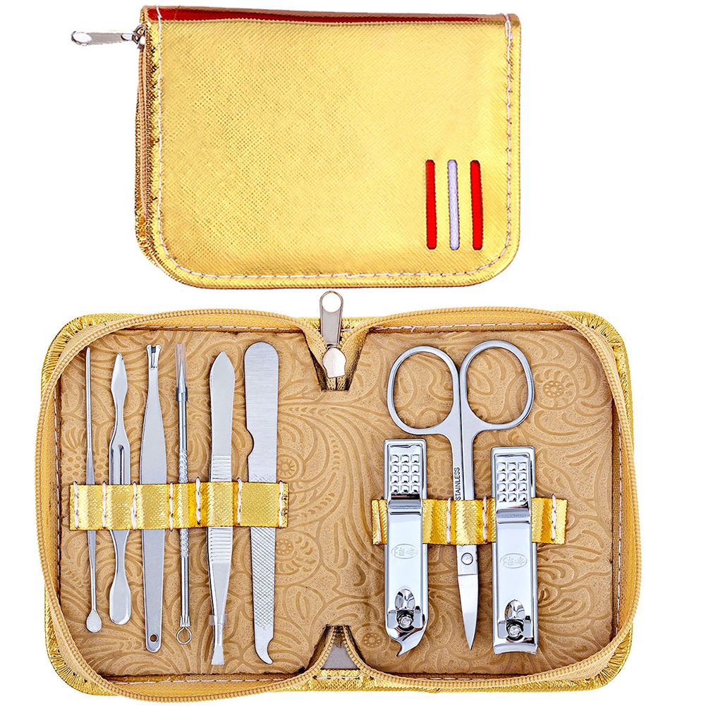 Nail Clippers Set Metal Manicure Tool Fingernail And Toenail Clipper Cutter Sharp Sturdy Trimmer Set For Men And WomenYellow Y