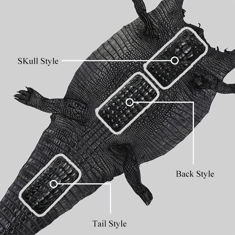 Etui en cuir véritable crocodile pour iPhone XR X XS Max Housse Etui Marvel haut de gamme antichoc pour iPhone 7 8 6 Plus 6S Coque