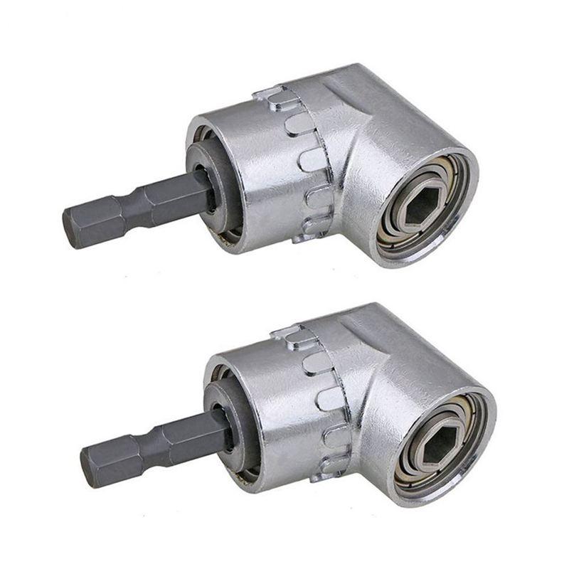 adaptateur de support de douille de rallonge de 1//4 de pouce pour angle de 105 degr/és tournevis porte-outil de foret /à angle Adaptateur de tige hexagonale /à angle droit Court