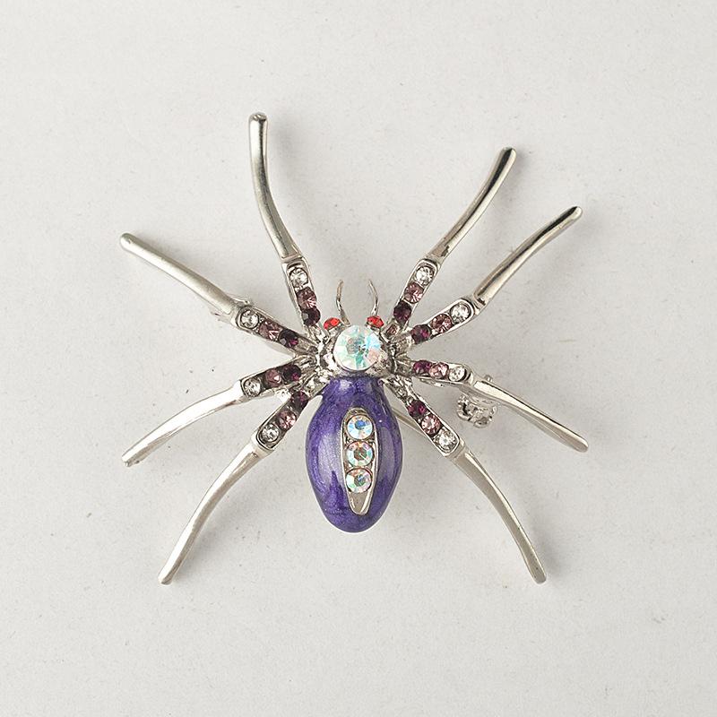Crystal Araignée forme Broche Pour Femmes Strass Insecte PINS élégant Accessoires