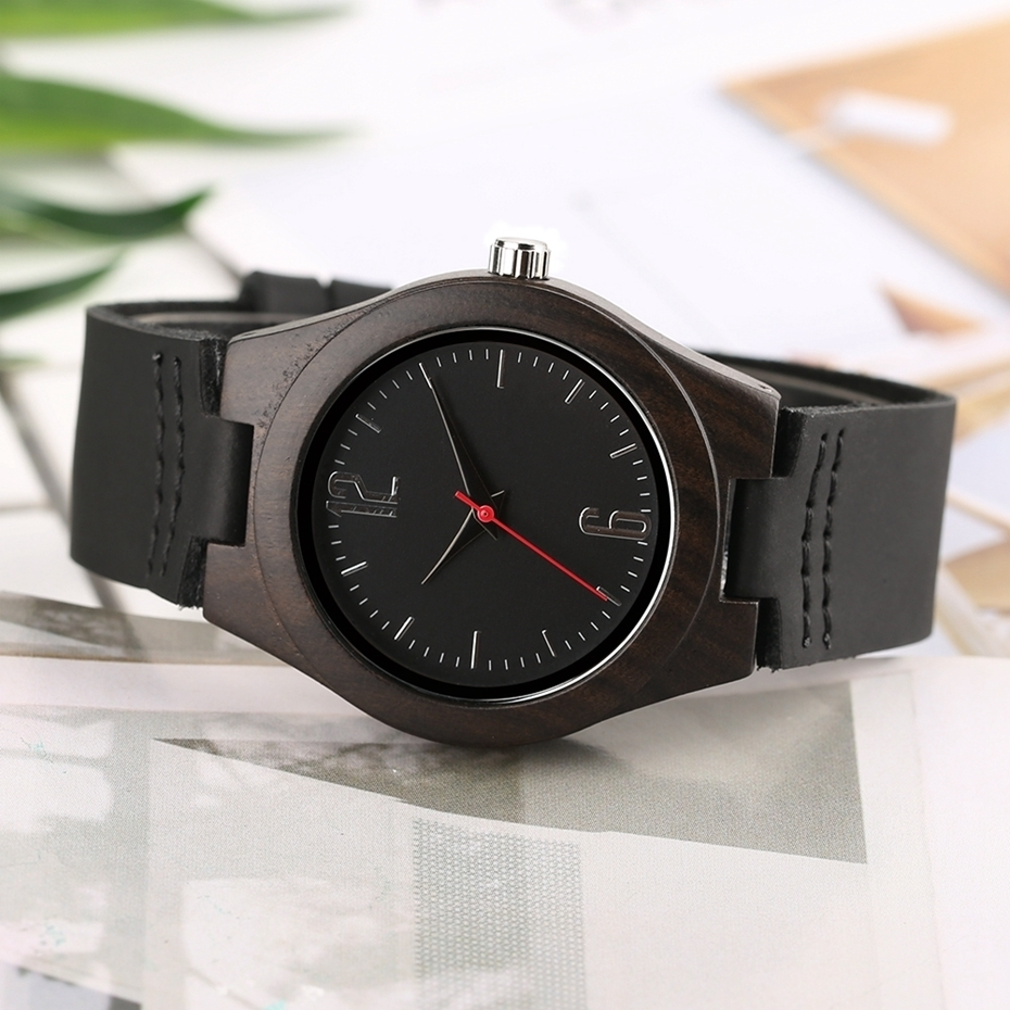 Lovers Gifts Luxury Royal Ebony Wood Watch Mens Fashion Wooden Women Dress Hour Clocks Soft Genuine Leather Relojes Wristwatches 2018 (28)