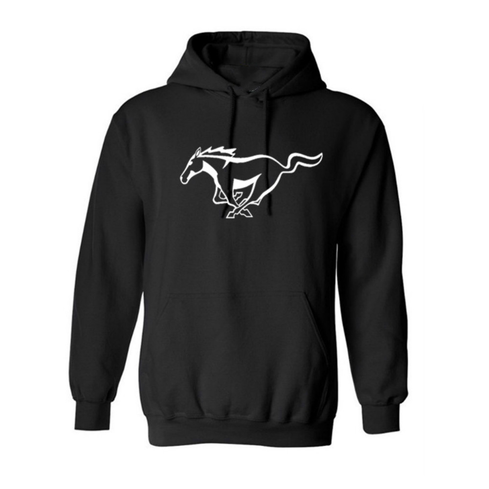 Casual Con Capucha Ford Mustang Caballo Hoodie Streetwear