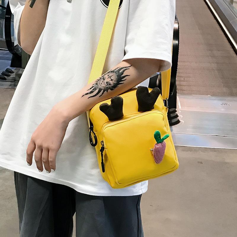 Giapponese MORI ragazza tela borsa a tracolla Borsa Hobo Harajuku Messenger Tote Bag