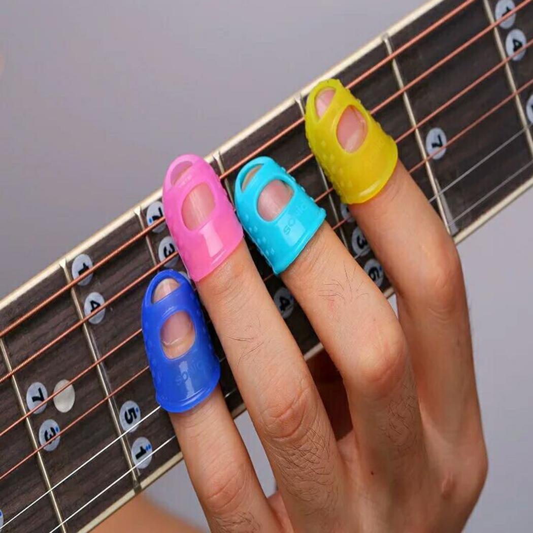 Nuevos protectores con punta de dedo Protectores de silicona de gel de sílice para bajos Instrumentos de instrumentos musicales nuevos