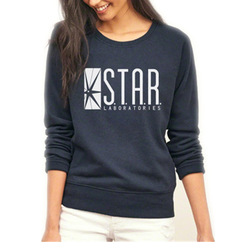 2016 The Flash Star Laboratories Logo Hoodie Zip up Fleece Super Warm Sweatshirt