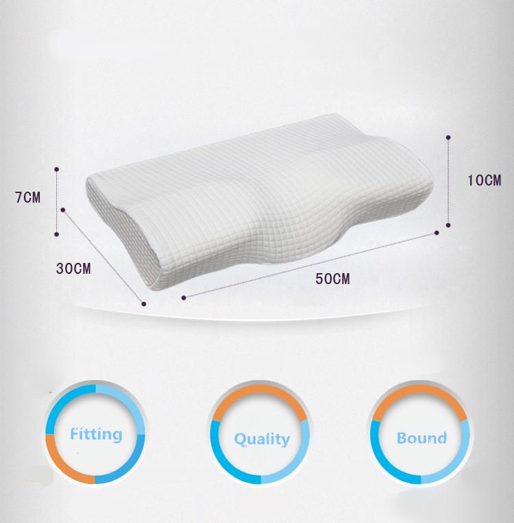 Yoga Waist Neck Back Pillow Breathable Memory Foam Cervical Health Pain Release
