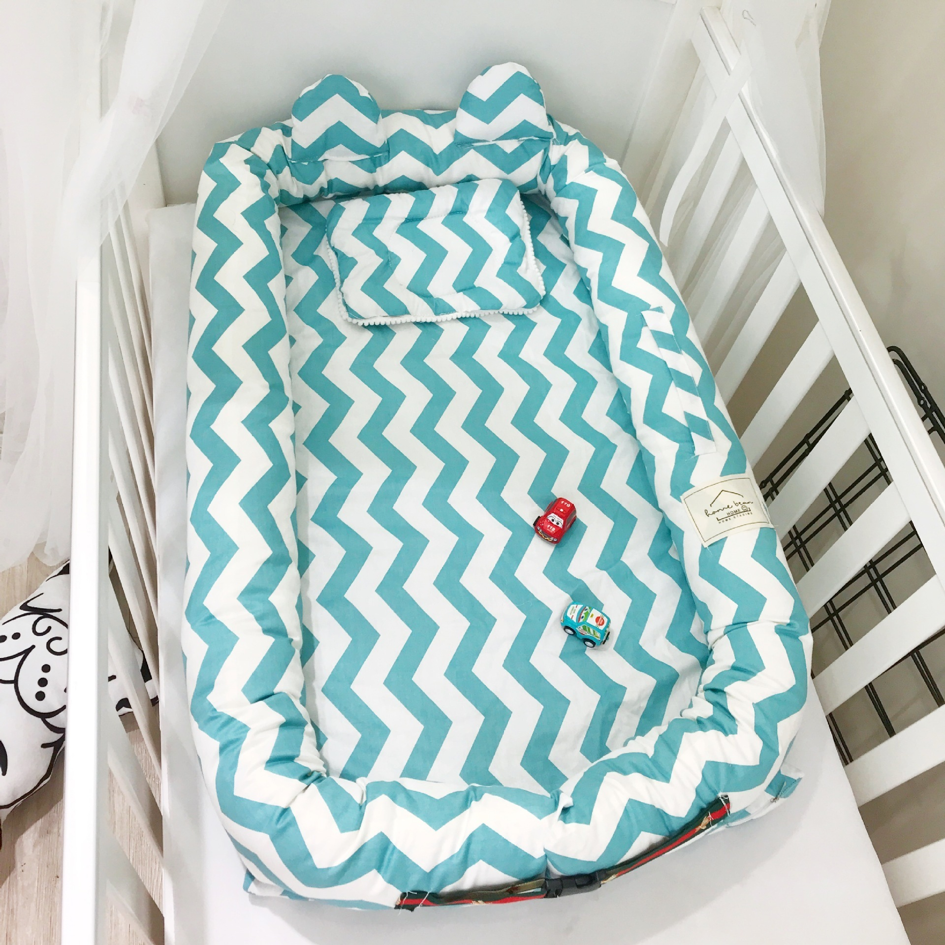 Baaobaab Erdc Lindo Oído Cama de Algodón Nido del Niño Portátil Cuna de Bebé Babynest Para Cuna de Recién Nacido Lavable Cuna C19041901