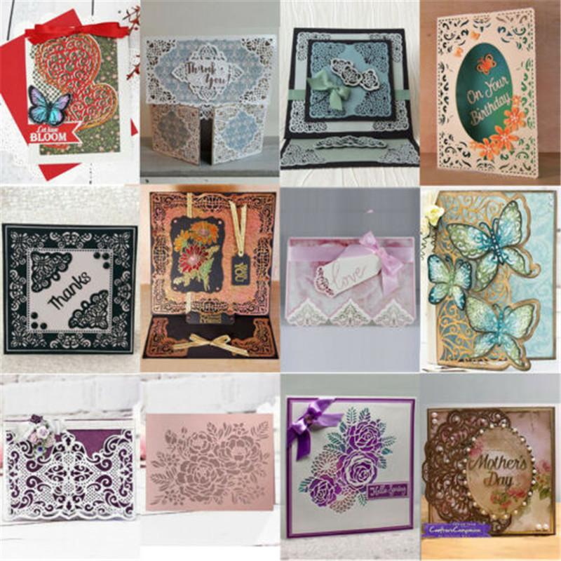 1pc Blumen Grenze Metall Stanzformen für DIY Album Papier Karten HK