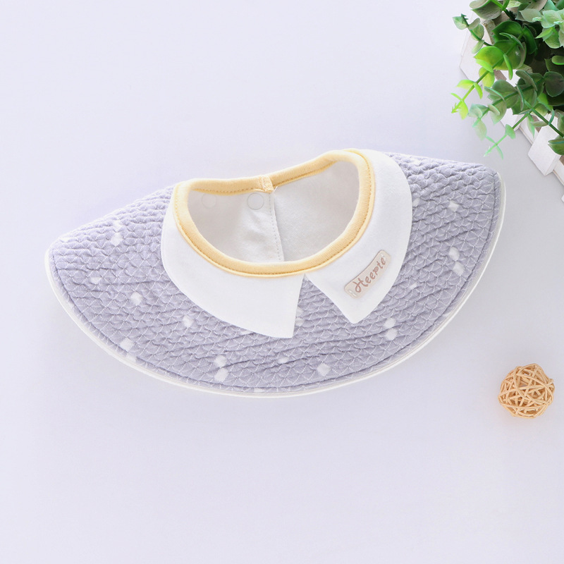 100% Cotton Waterproof Baby Bibs Fashion Round Neck Baby Girls Bibs 360 Degree Flower Star Bib For Girls Baby Girls Clothing (6)