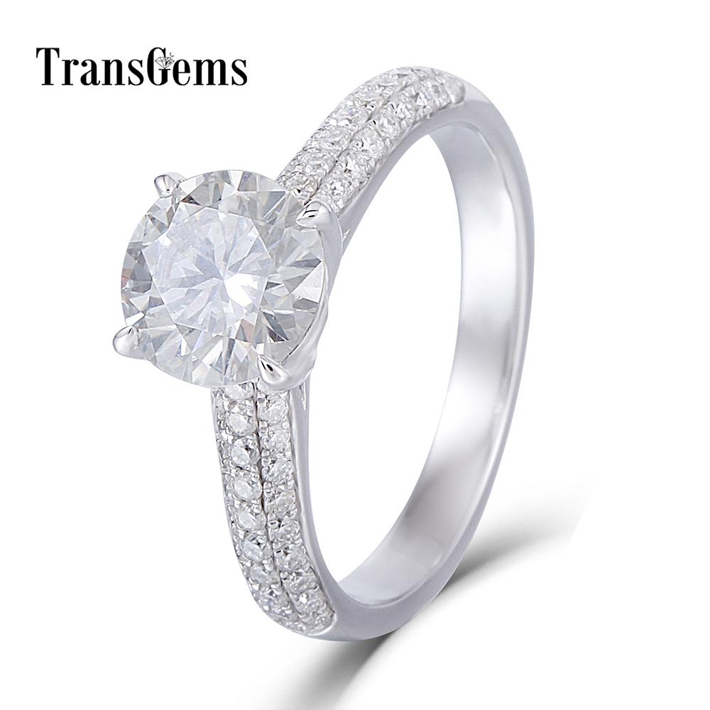 1.5CT moissanite engagement ring 1)