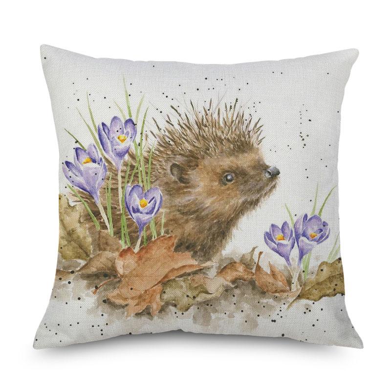 Baby Animal Party Hedgehog Bee Pug Dog Cushion Covers Hand