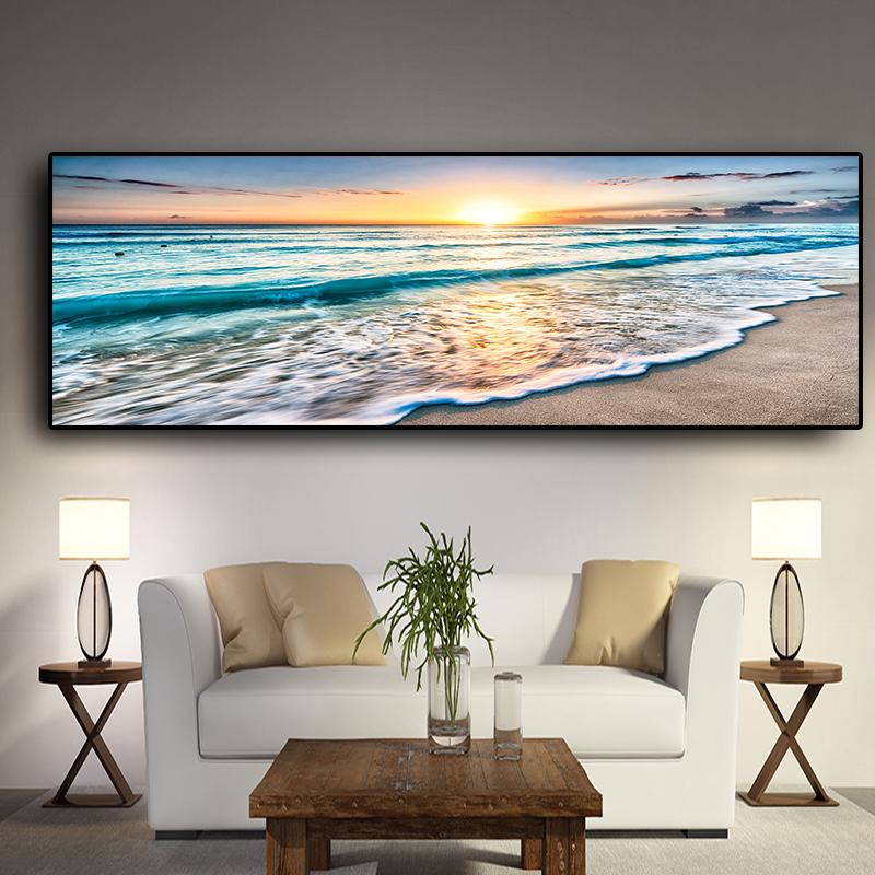 Natural Gold Beach Sunset Landscape
