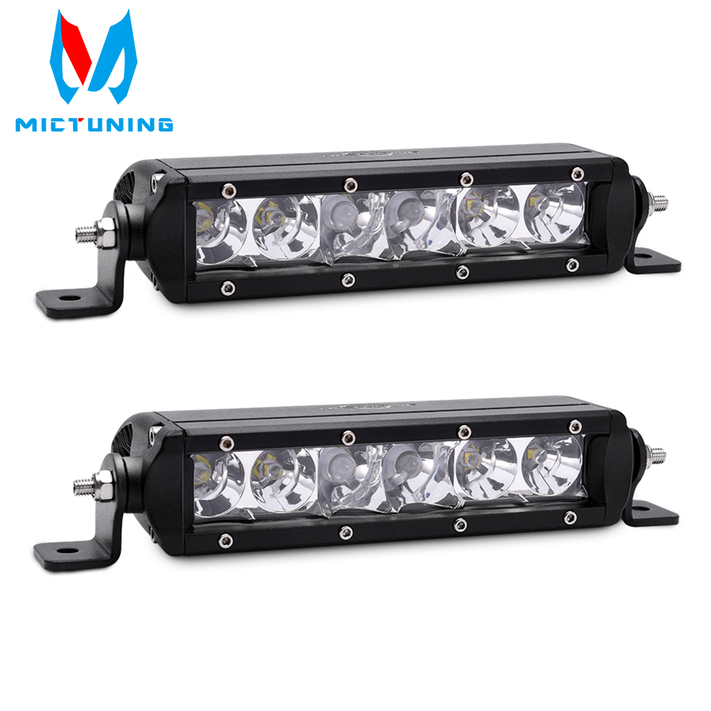 MicTuning 1pcs 30W Single Row Cree LED Light Bar Combo Spot Flood 2700 lm 8/'/' L