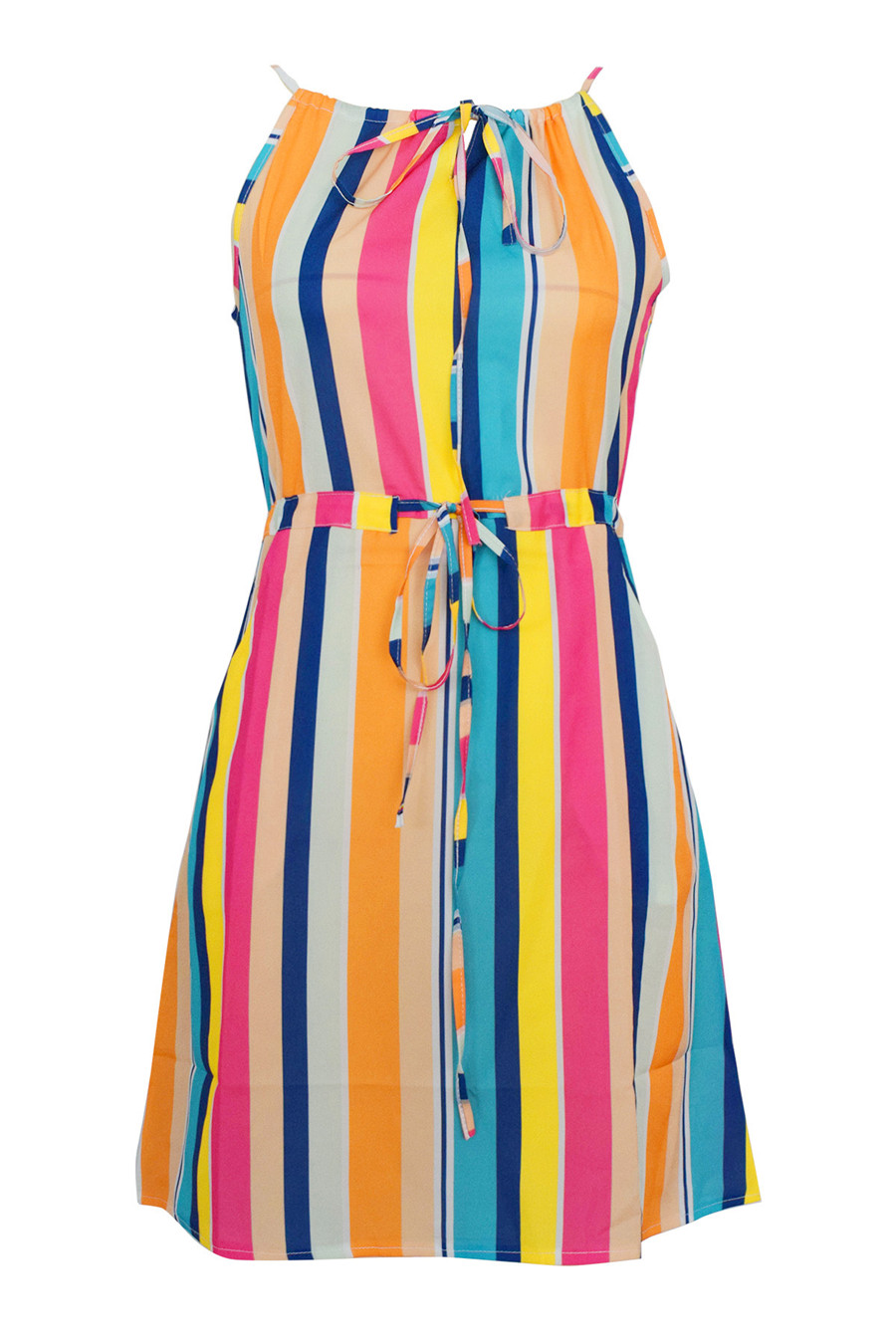 Gladiolus Chiffon Women Summer Dress Spaghetti Strap Floral Print Pocket Sexy Bohemian Beach Dress 2019 Short Ladies Dresses (24)