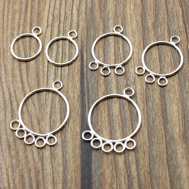 2PCS 925 Sterling Silver Bracelet Necklace Clasp Connector Charm DIY A2205