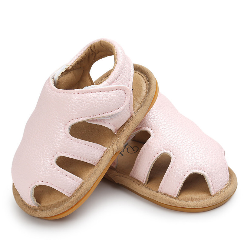 3 Color Summer Fashion Toddler Infant Kids Baby Boys Girls Solid Sandals Casual Anti-slip Soft Sole Shoes Sneaker M8Y02 (15)