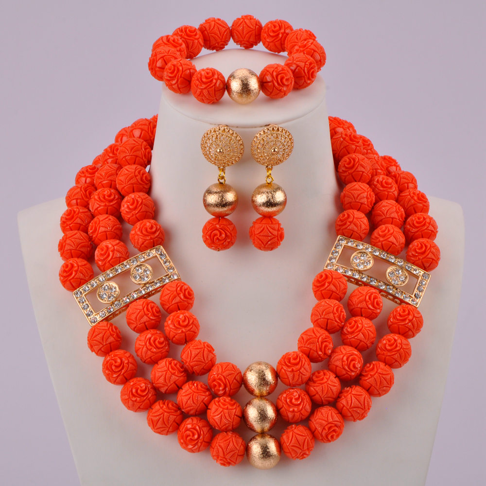 Orange Artificial Coral Beads-01-150 (2)