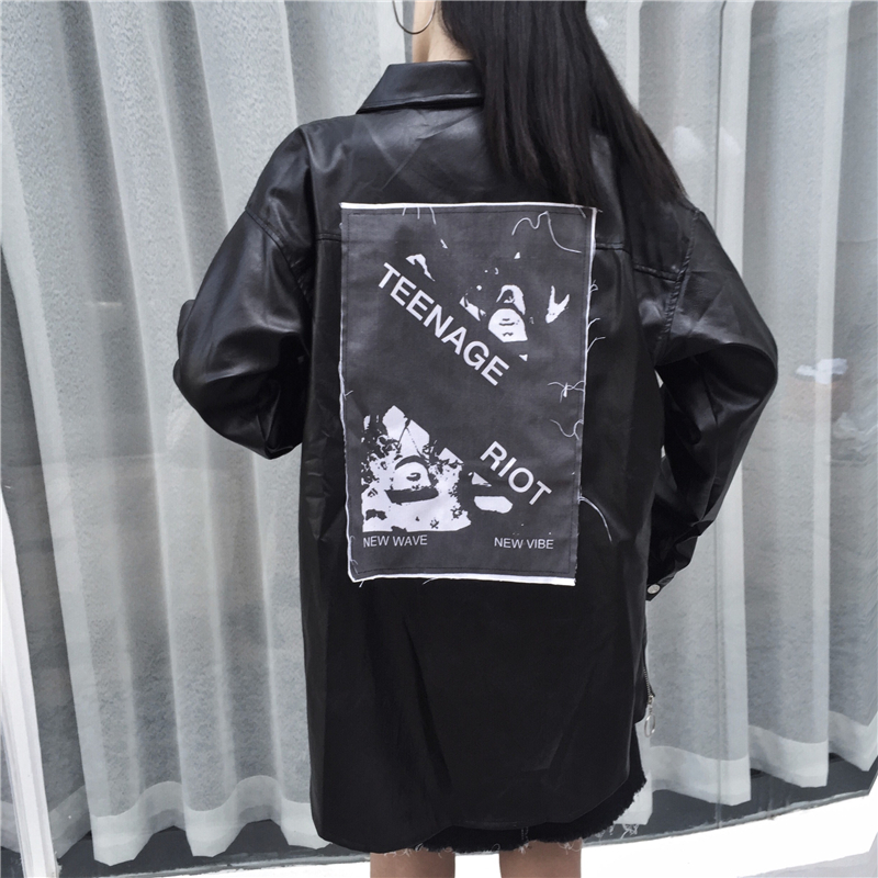 Fashion Girls Camouflage Coat Back Patch Love Kids Casual Loose Cotton Jacket