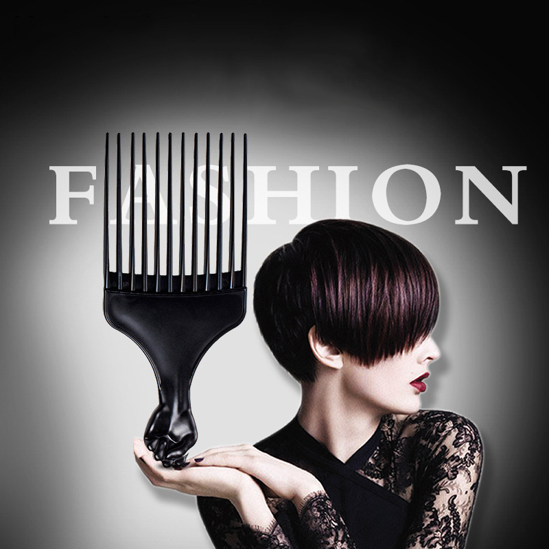 Barber Tangle Hair Brush Flat Comb Dye Color Flattoper Crew Cut Cropped Oil Slick Hairbrush Fork Comb Insert Afro Styling U1059