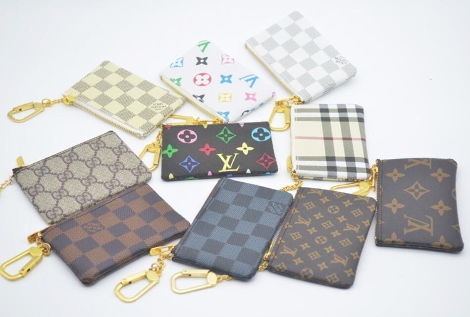 KEY POUCH Damier Leather Holds Alta Calidad Famoso Diseñador Clásico Mujeres Titular de la llave Monedero Monedero de cuero pequeño Key Key