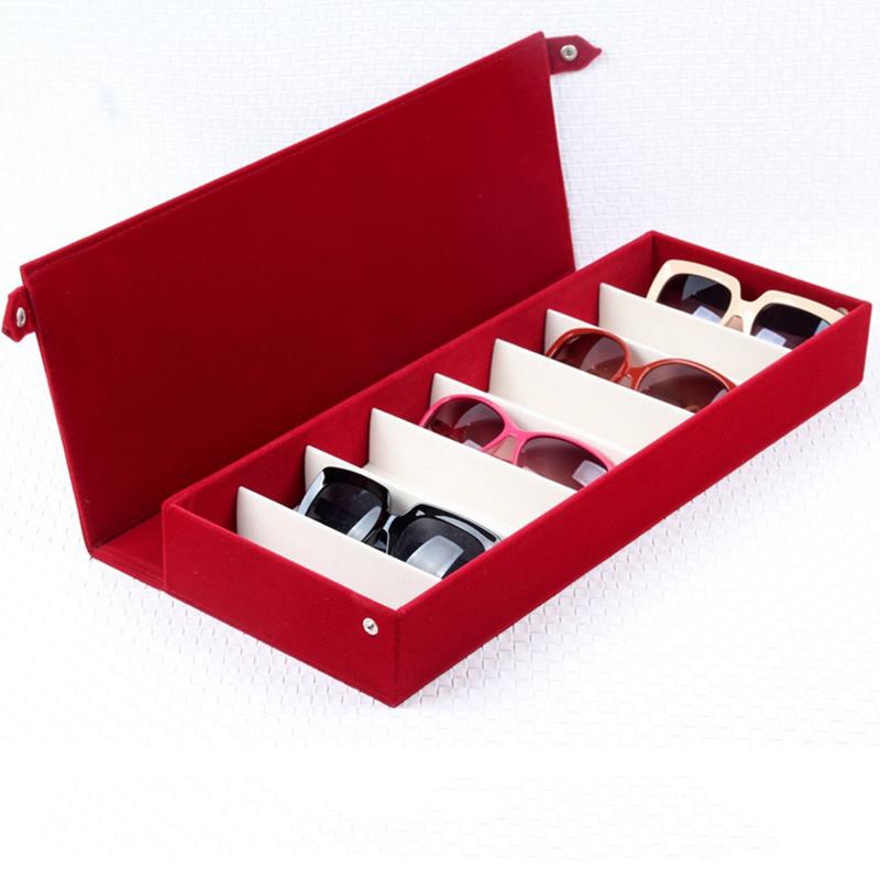 Diniwell 8 Yuvası Gözlük Standı Tutucu Güneş Gözlüğü Gözlük Vitrin Takı Tepsi Saklama Kutusu Organizatör Unisex J190713