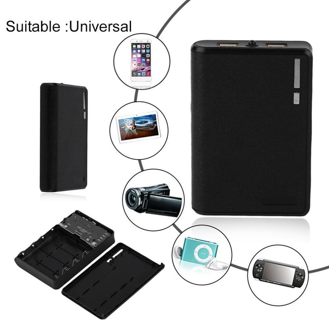 Fashion Portable Lightweight Dual USB Ports Power Bank For Phone With Light