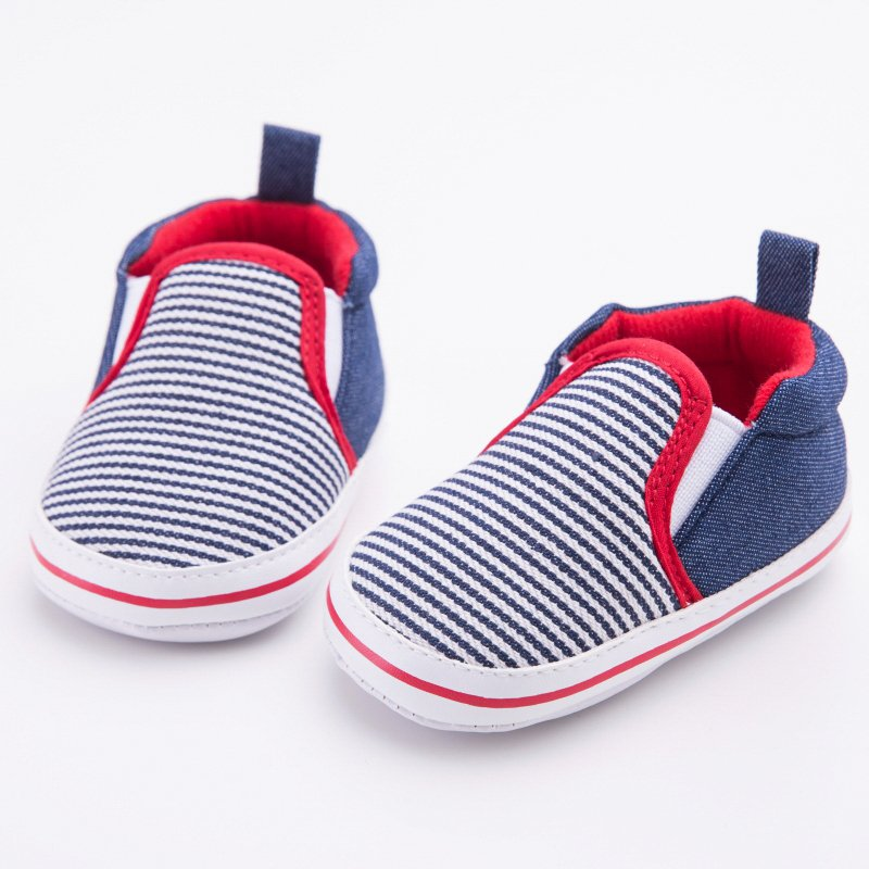 Color : Darkblue , Size : 6 M US Toddler Non-Slip Boys Girls Rubber Sole Sneaker First Walkers Shoes Infant Casual Shoes Durable