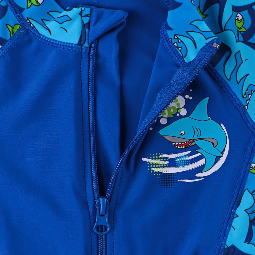Baohulu Shark Character Kids Swimwear upf50+ Swimsuit One Piece Boy Children Bathing Suits Swimming Suit For Boys 3-10 Years Y19072401