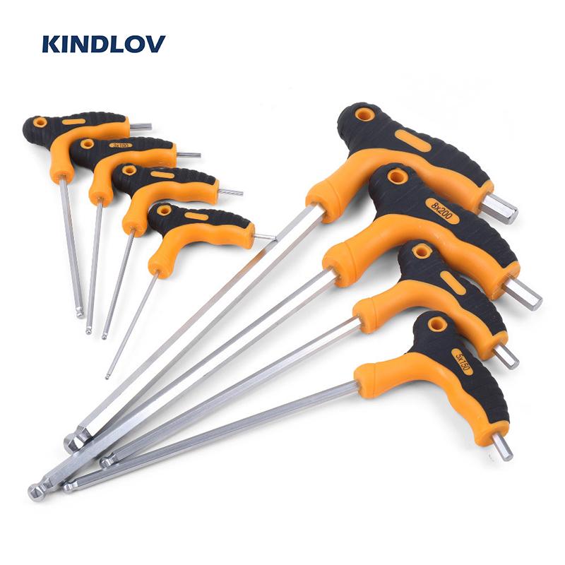 Set Chiavi a brugola esagonali 7PCS Attrezzo Manuale per Kit di Riparazione Professionale con estremit/à a Sfera estesa