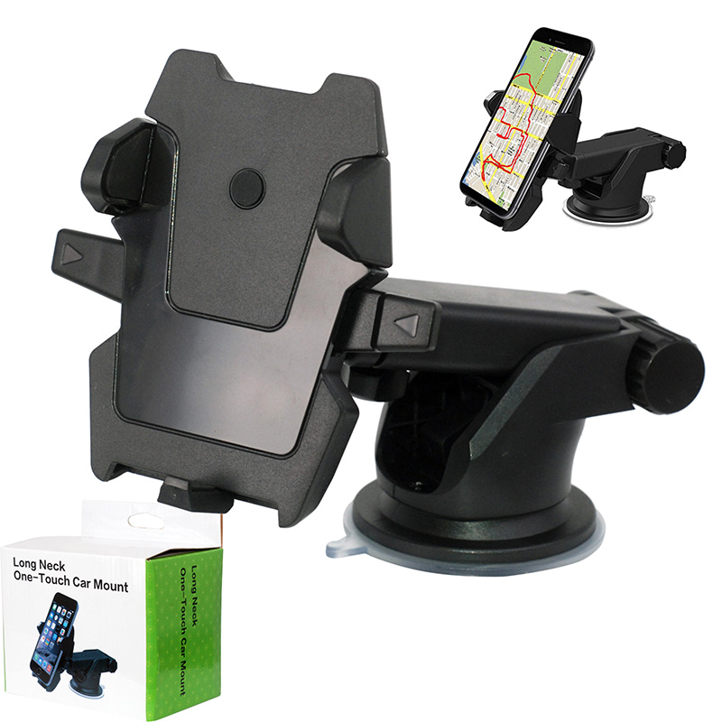 Universal Air Vent Stretch Car Mount Phone Holder Compatible with iPhone Xs Max XR X 8 7 Plus 6S 6 One Stretch Car Phone Mount Black Galaxy S10 9 8 7 Plus Note 10 9 8 5 and More Smart Phone