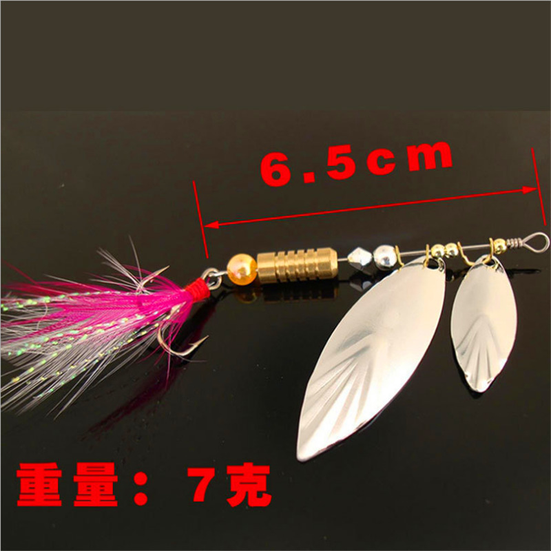 Fishing Lures Spinner Baits Metal Spoons Artificial Lures Bass Hard Baits Fish Smell Red Soft Lure