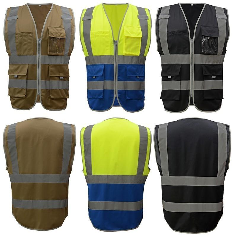 Sfvest Safety Vest Reflective Company Logo Printing Workwear Hi Vis Clothing Safety Vest T190622 High Visibility Safety Vest High Visibility Safety