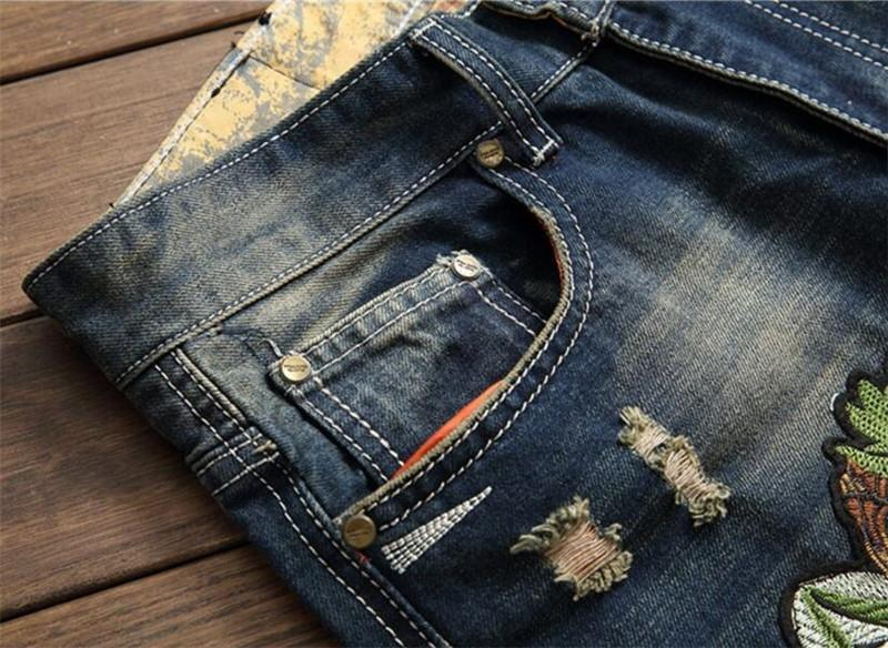 Mens ripped denim jeans05