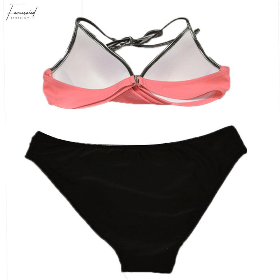 Sexy Bikinis Badeanzug 2019 Neue Sommer Niedrig Taillierte Frauen Anzüge Neckholder Top Push Up Bikini Set Plus Size Bademode Xxl