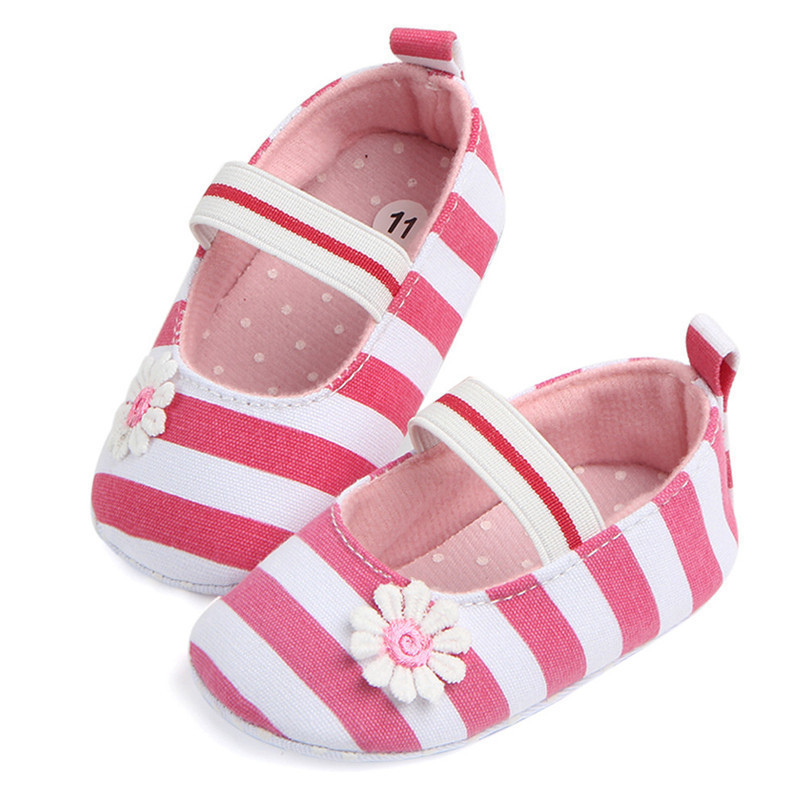 Summer Boys Girls Shoes Infant Kids Girls Baby Stripe Flower Shoes Soft Sole Anti-Slip Shoes First Walker NDA84L25 (11)