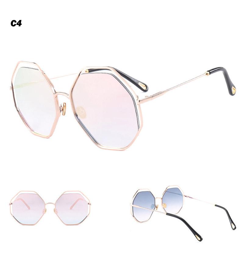2018 News Goggle Rimless Sunglasses (14)