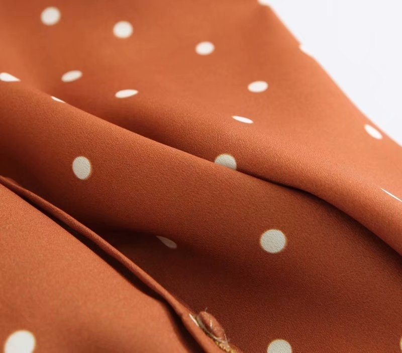 Autumn Long Sleeve Polka Dot Shirt Turn Down Collar Korean Fashion Button Down Cute Loose Fall Shirt Tops Streetwear