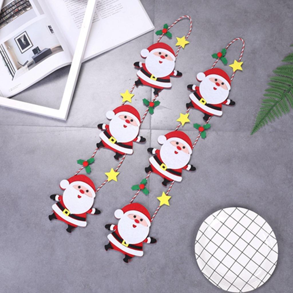 Décorations De Noël Suspendu Fenêtre Mur 3D Paillettes Santa Père Noël
