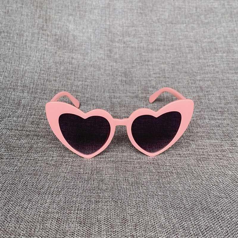 Per Bambini e Bambine a Forma di Cuore Lolita Occhiali da Sole Colorati Flash