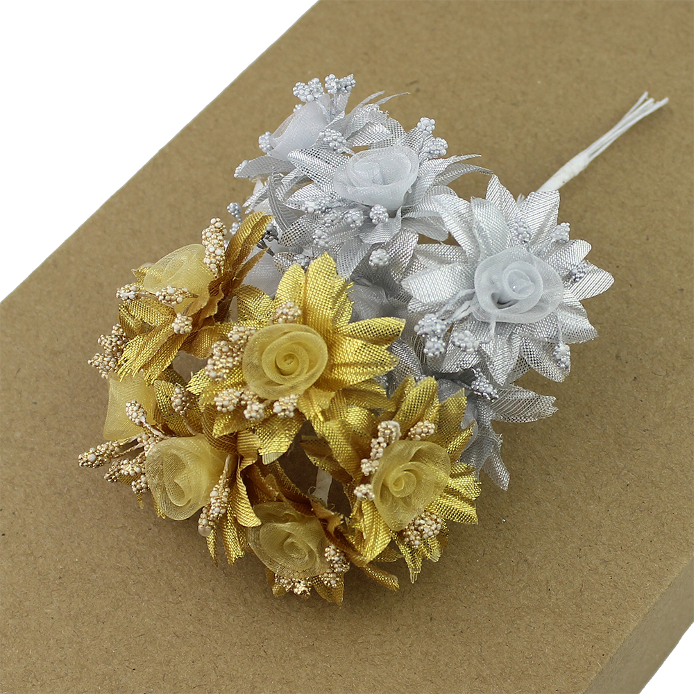 Golden Silver Glitter flower 2