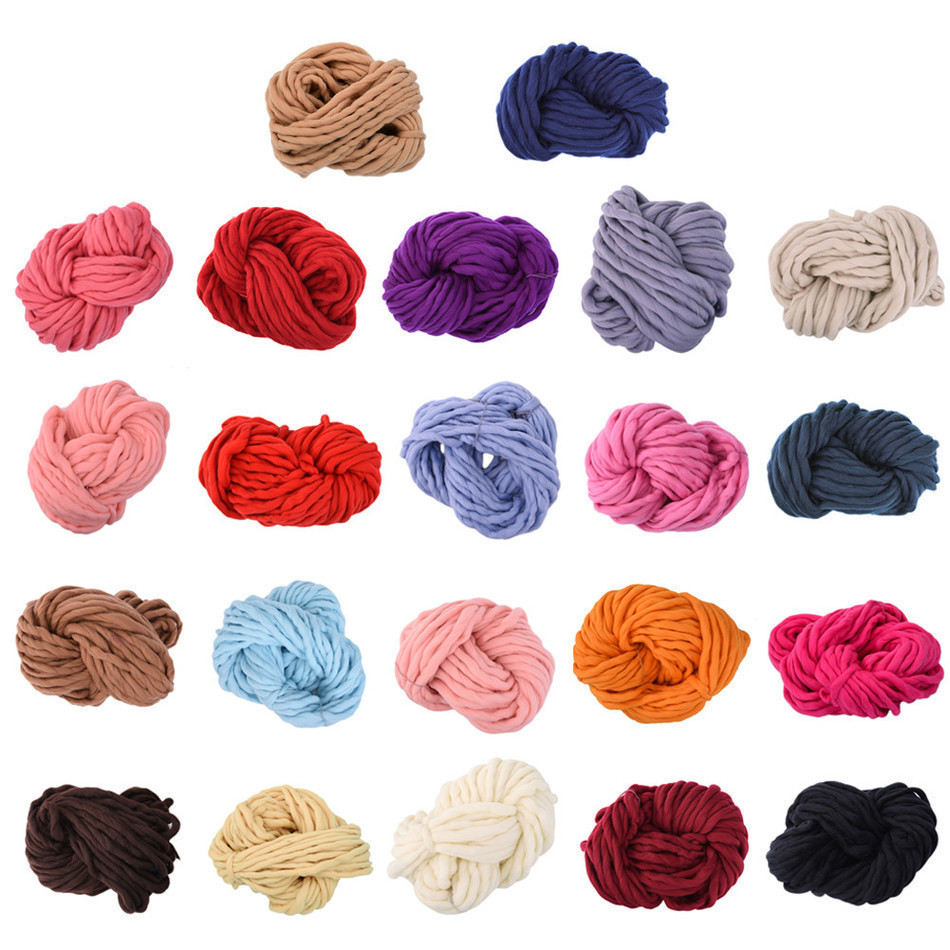 Super Thick ply yarn Soft Wool Roving Bulky Big Yarns Spinning Hand Knitting Thread Crochet Yarn for Hat Scarf Knitting