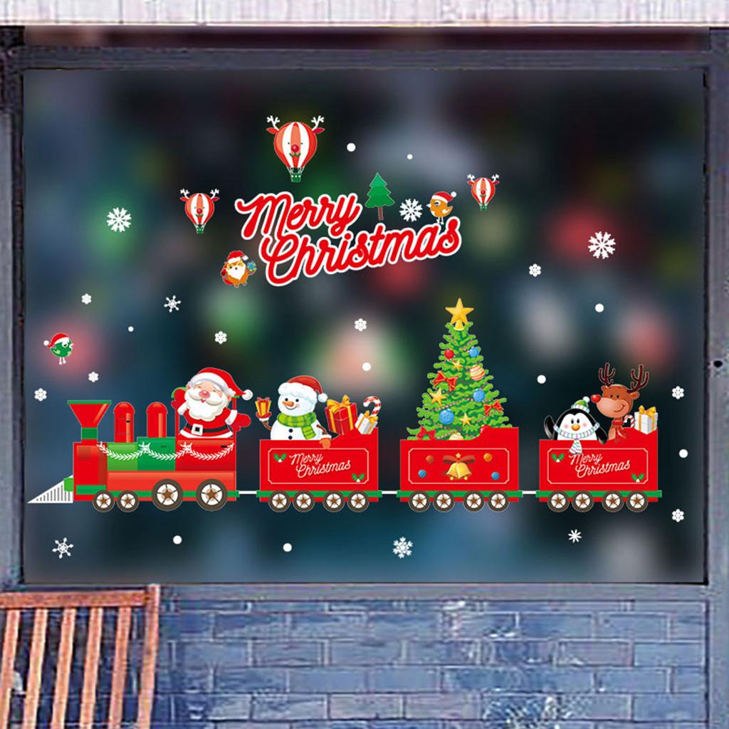 6pcs Christmas Santa Snowman Elk Paper Ball Chain Garland For Home Kindergarten Shopping Mall Bar Classroom