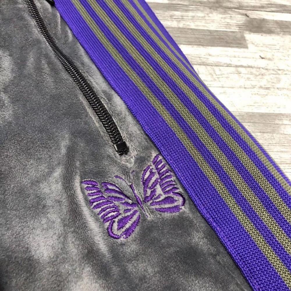 19SS AIGUILLES AWGE Pantalon Papillon Brodé Designer De Luxe Pantalon Hommes Et Femmes Haute Qualité Pantalon HFWPKZ098
